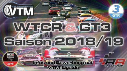 Seid dabei! WTCR und GT3 Saison 2018/19